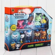 8pcs lot The Octonauts Action Figure Toy Captain Barnacles Kwazii Cat Peso Penguin Shellington Dashi Professor