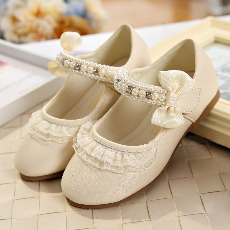 IYEAL Lente Kinderen Meisjes Lederen Platte Schoenen Mode Bloem Baby - Kinderschoenen - Foto 3