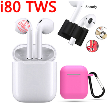I80 TWS 1:1 Original Bluetooth Earphone Bass Stereo Wireless Charging Pop-up Mini Earbuds Siri Headset PK I10 I20 I30 I60 TWS