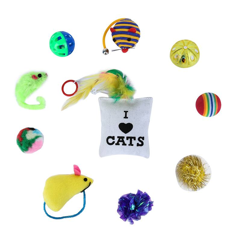 18 Variety Small Mini Mouse Game Gift Toys for Cats Dogs Kitten Pet Toys Value Packets Mouse Ball Socks in Cat Toys from Home Garden