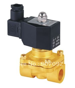 12V 1 NPT NC 2 Way Brass Body NBR Solenoid Valve Air Water DIN Box Connector Coils 2W250-25D free shipping 5pcs dc24v 1 2 water solenoid valve nc brass alloy valve body