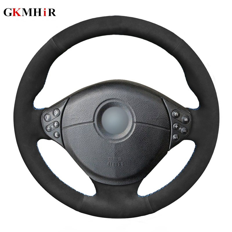 DIY Black Soft Suede Leather Car Steering Wheel Cover for BMW E39 5 Series 1999 2003 E46 3 Series 1999 2005 E53 X5 E36 Z3