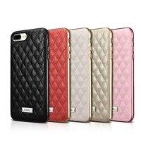 Icarer Lady 5 Kleuren Ruit Lamsleren Case Voor iPhone7 Plus 5.5
