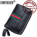 New Arrival Brand Luxurious Genuine Leather RFID Style Unisex Credit Card Holders Multi functional Key Wallet 5 Color