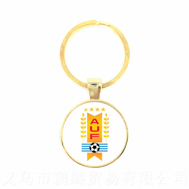 LOGOTIPO Da Equipe de futebol Mascote Keychain De Vidro 2018 Copo Titan Logotipo Da Mascote Chaveiro Para Os Fãs de Futebol Lembrança