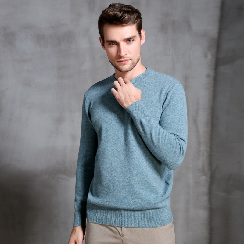 Winter Sweater Men 100% Pure Cashmere Knitted Jumpers Hot Sale 8Colors Oneck Soft High Quality Pullovers Tops Man Thick Clothes