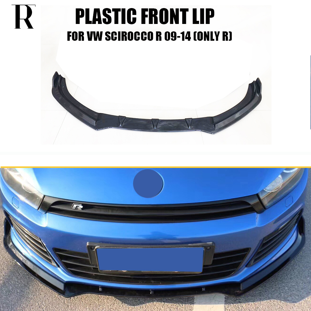 Scirocco R ABS Black Front Bumper LiP Chin Spoiler for VW Scirocco R 2009 - 2014 ( Only fit R , Cant fit Scirocco Standard )