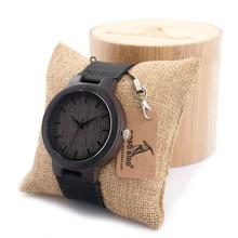 Nuevos hombres de la Marca de Relojes Retro Japón Batería Madera Reloj de Cuarzo Banda de Cuero Real de Los Hombres de Pulsera de Madera de Bambú Para Relojes de los hombres