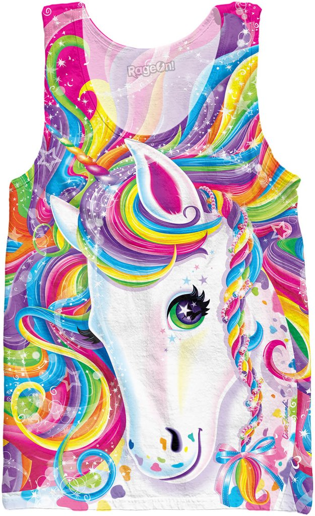 Lisa Frank Canvas Tank Tops Posters And Prints 3D Majesty Top Coloring Activity Book Rainbow In From Mens