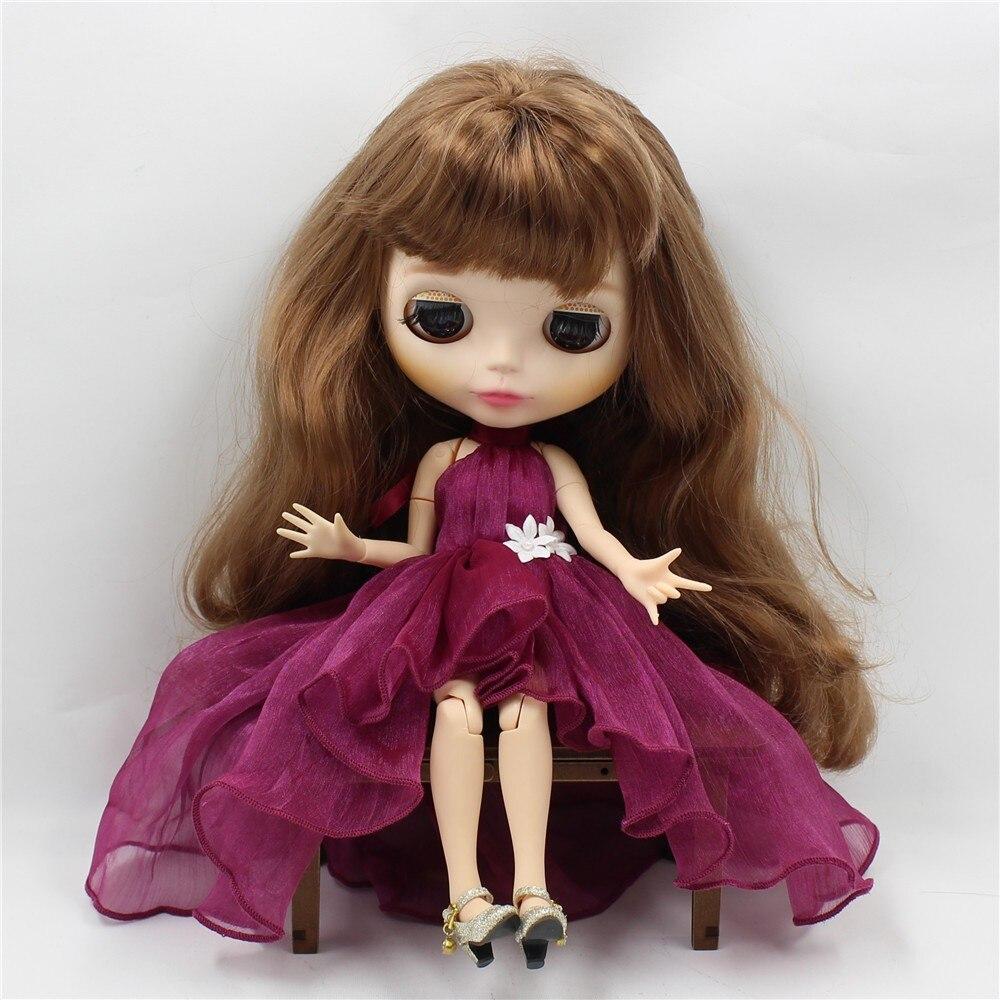 Neo Blythe Doll Chiffon Dress with Flower 3
