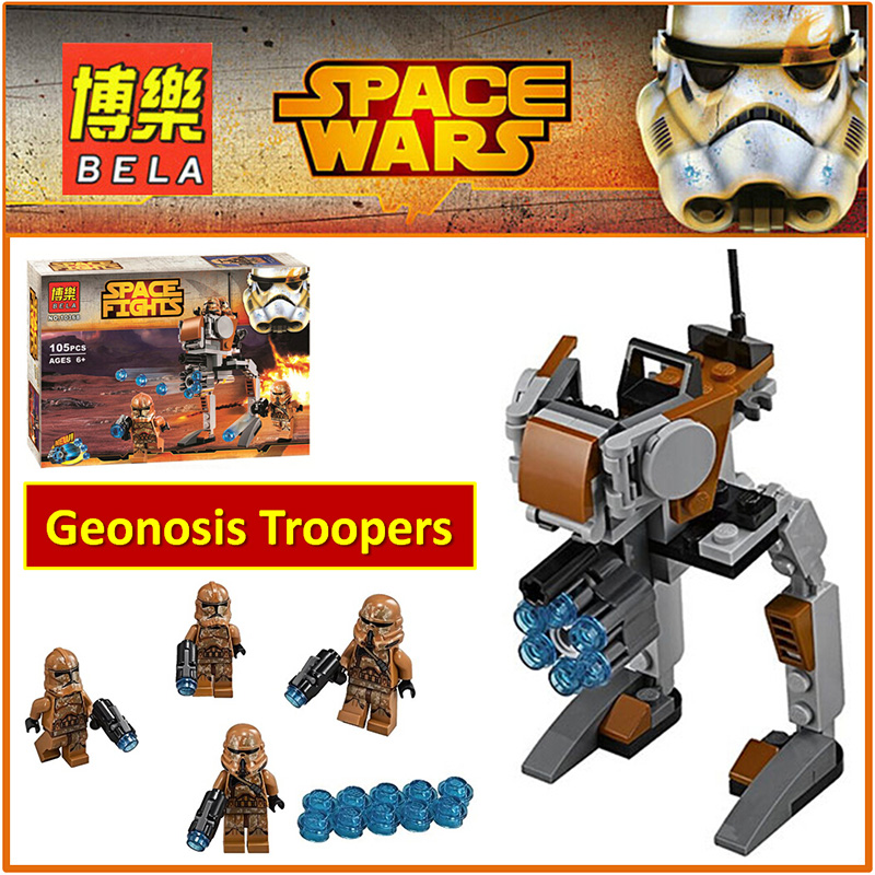 10368 Compatible Classic Space Wars Geonosis Troopers 75089 Model Figures Building Blocks Educational Toys for Children space series discovery space shuttle bricks toys mini children educational building blocks toys compatible legoed