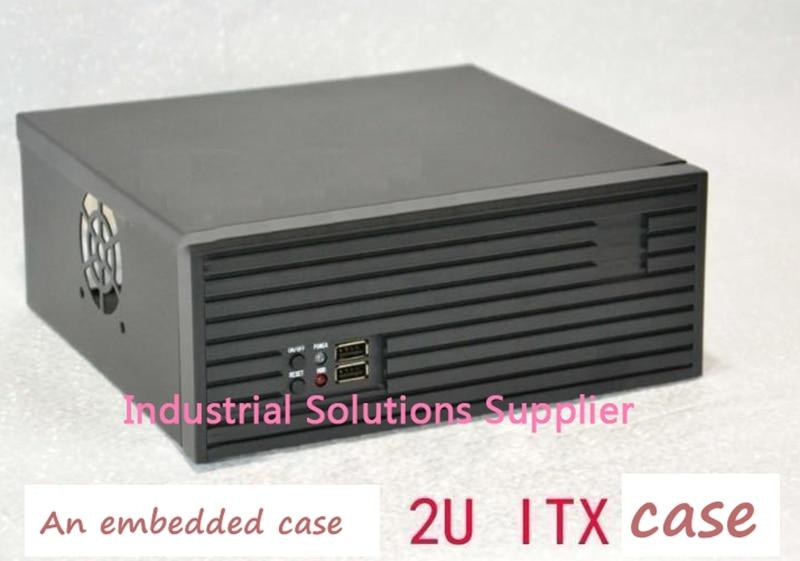 все цены на  NEW 2u computer case ultra-short 2u server computer case 2u embedded computer case mini itx aluminum panel  онлайн