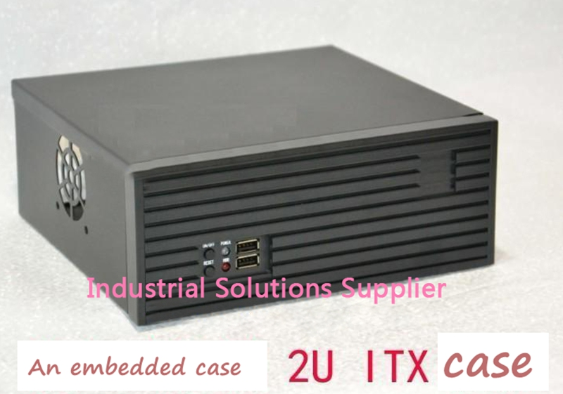 New 2U Computer Case Ultra-Short 2U Server Computer Case 2U Embedded Computer Case Mini Itx Aluminum Panel new industrial computer case 2u server computer case pc power supply length 43