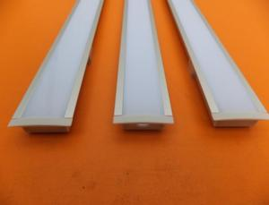 Image 2 - شحن مجاني شكل مسطح led الشخصي فتحة الألومنيوم 2 متر/القطعة طول مع غطاء وغطاء نهاية للضوء led قطاع