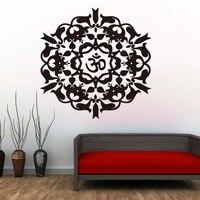 Yoga Hint Tarzı Duvar Sticker Mandalas Için Çıkarılabilir Vinil Duvar Çıkartması Yapışkanlı Duvar Kağıdı Oturma Odası Ev Dekor Duvar Sanatı