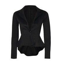 blazer women fashion cropped Blazer Jacket Outwear 2019 blazer mujer S