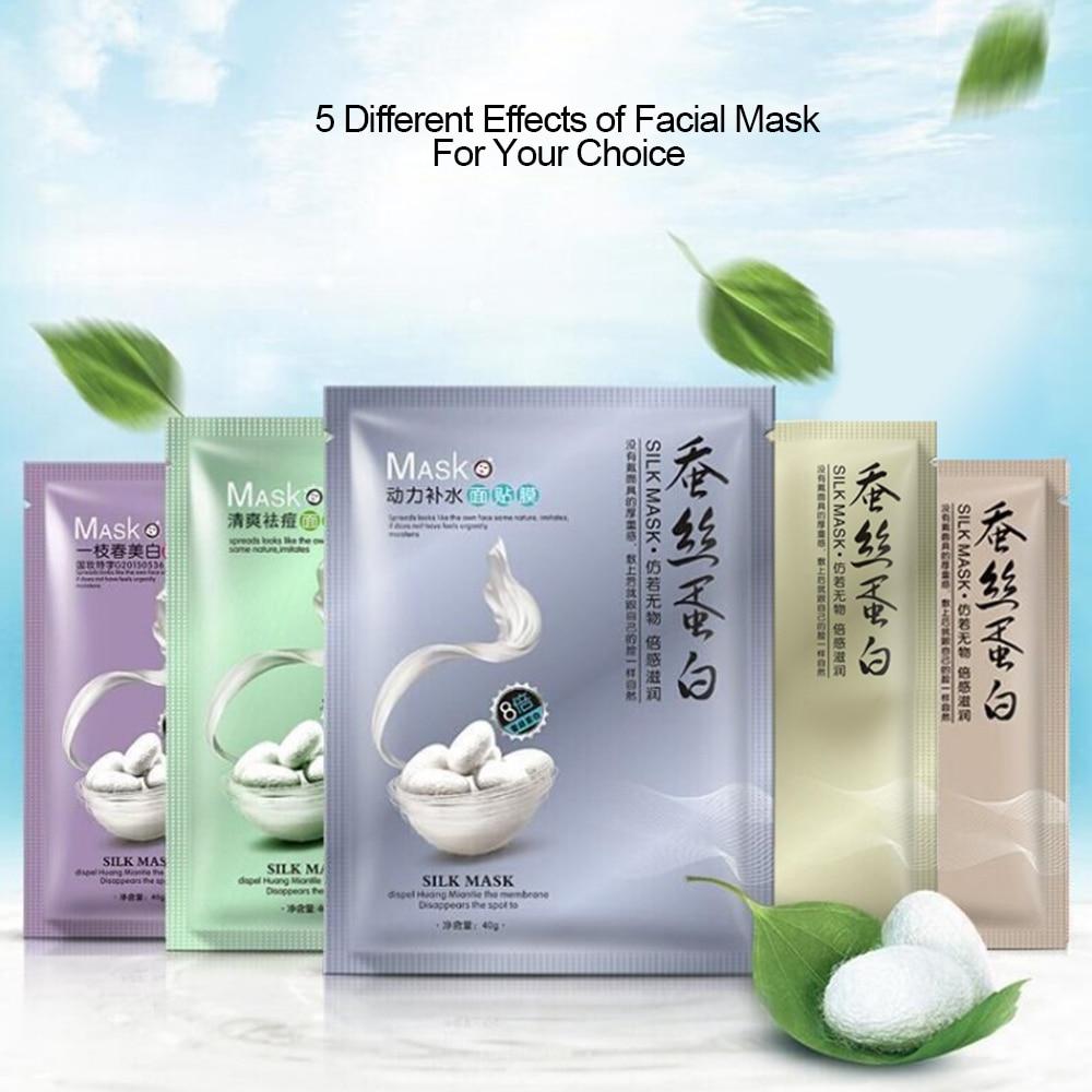 1pc Skin Care Plant Facial Mask Moisturizing Oil Control Blackhead Remover Wrapped Mask Face Mask Face Care TSLM2
