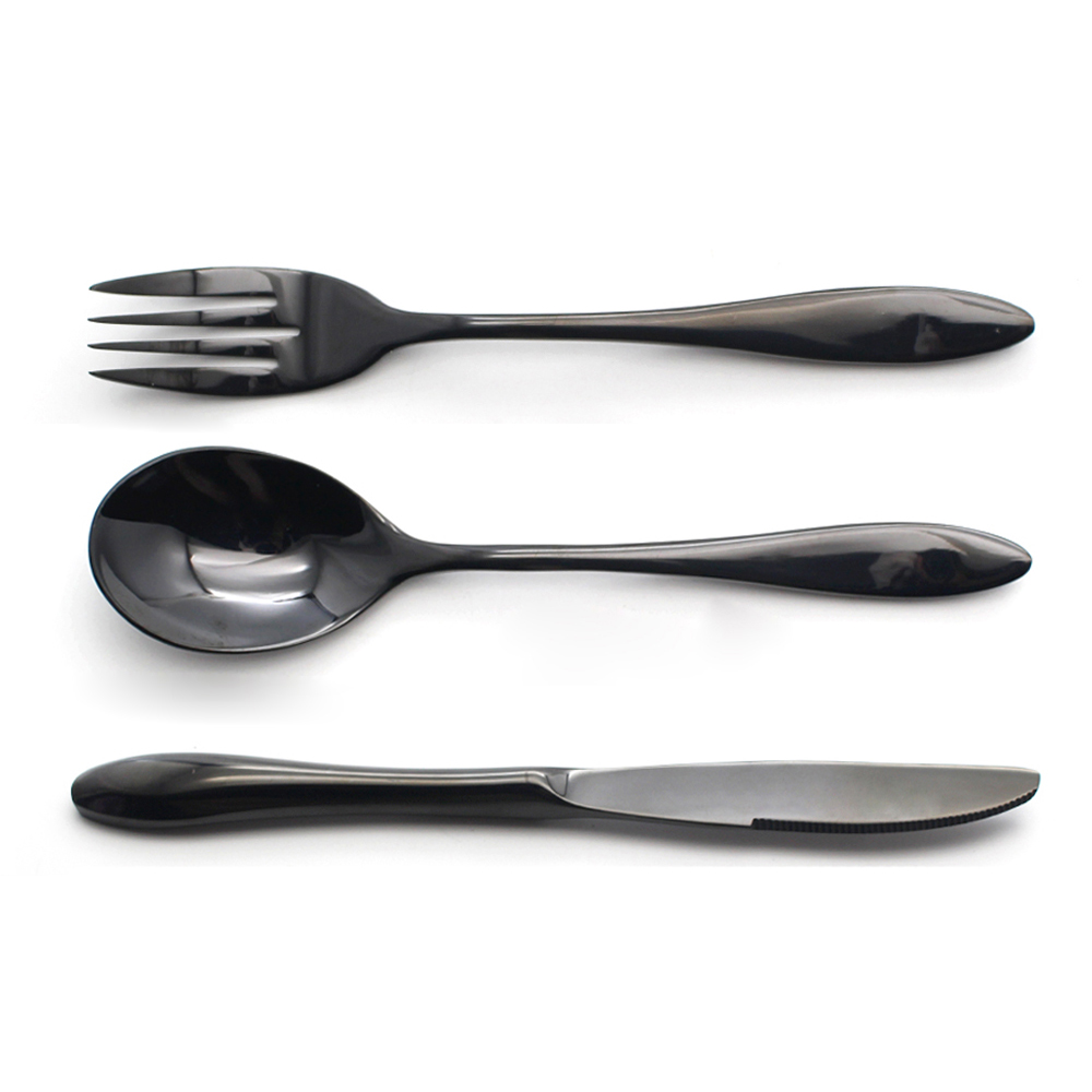 1pc Black Cutlery Set Coating Color Stainless Steel Dinnerware Tableware For Childre Dinner Spoon Knife Fork Set Dining Tools  sc 1 st  Google Sites : encore stone tableware - pezcame.com