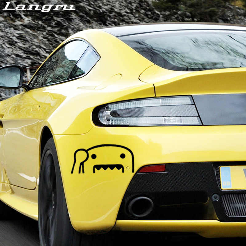 Langur gran oferta ondeando medio Domo Kun Jdm vinilo divertido calcomanía coche pegatina coche Stying JDM