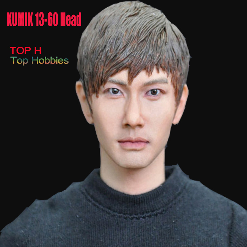 KUMIK 1/6 Male Head Sculpt South Korea Ouba Man KUMIK13-60 Head Carving Model Fit 12 Inch Phicen HT Toys Action Figure 1 400 jinair 777 200er hogan korea kim aircraft model