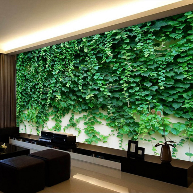 Photo Wallpaper 3D Boston Ivy Green Plant Mural Hotel Living Room TV Sofa Backdrop Wall Home Decor Wallpaper Papel De Parede 3 D