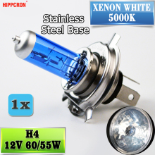 Галогенная лампа hipppcron H4 12V 60/55W 5000 K, головной светильник, темно-синий стеклянный автомобильный светильник, супер белый