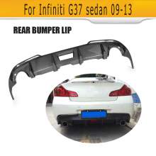 Top Quality carbon fiber G37 JC styling car rear diffuser lip for infiniti,auto bumper G37(fit 4 door car)