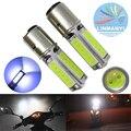 2 UNIDS de Alta Potencia MAZORCA Lámparas de Freno Con La Lente 12 V 6000 K H6 BA20D 25 W 1000LM Blanco luces de Conducción de motocicletas Cabeza Luces de Freno Luz