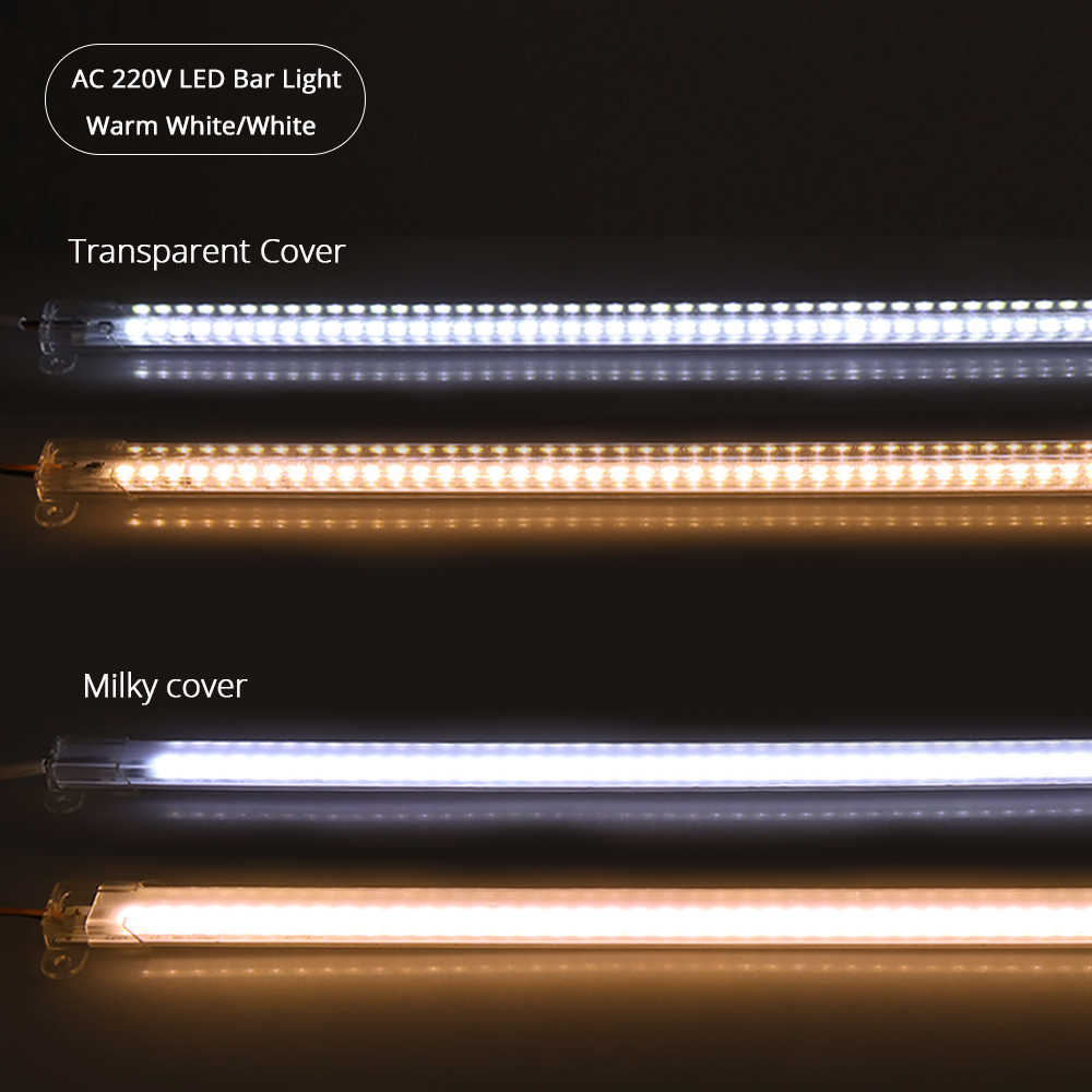 AC220V светодиодный свет бар высокое Яркость светодиодный трубки 50 см 5730 светодиодный жесткой полосы Подсветка для Кухня шкаф СВЕТОДИОДНЫЙ люминесцентная лампа 5 шт.