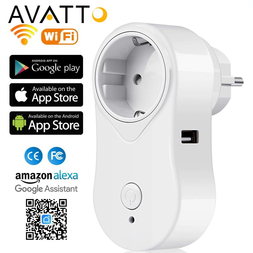 AVATTO UK/EU/US Wifi Smart Plug with Alexa,Google home Audio Wireless Control Smart Socket Outlet with Android ios phone все цены