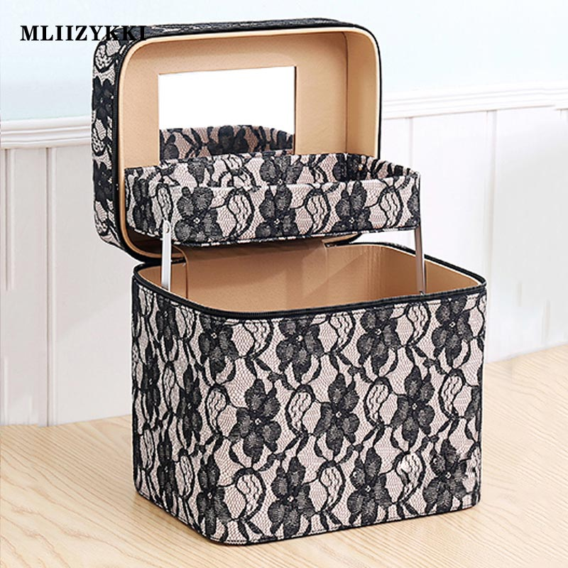 MLIIZYKKI Zipper  Women Makeup bag Cosmetic Case beauty bag Make Up Organizer Toiletry bag kits Storage Travel Wash Pouch