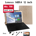 "For Lenovo Miix4 holster case Miix 700 tablet support set of 12"" shell Tablet Leather Stand Flip Case Magnetic of Cover"