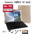 """Para Lenovo caso coldre Miix4 Miix 700 tablet suporte a conjunto de 12 """"shell Tablet Couro Stand Case Flip Magnético da Tampa"""