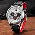 Nuevas llegadas benyar deporte del cronógrafo para hombre relojes de lujo superior de la marca de moda reloj de cuarzo todos los pequeños diales están trabajando