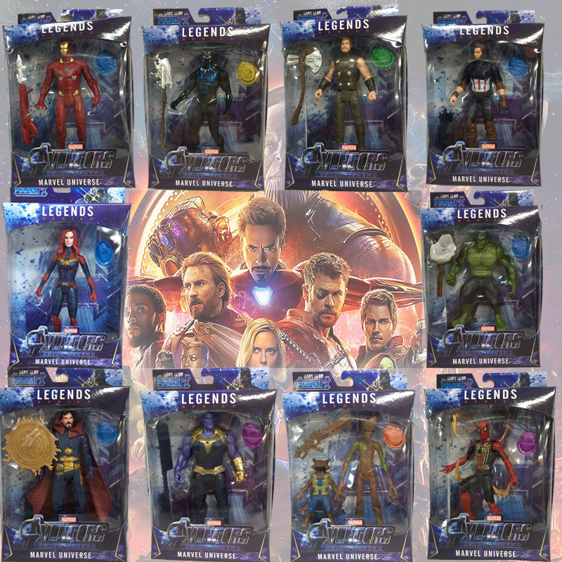 Marvel Avengers 4 Toys Buster Hero Black singular flashing Grutt Spiderman Super hero Action Figure toy kid gift