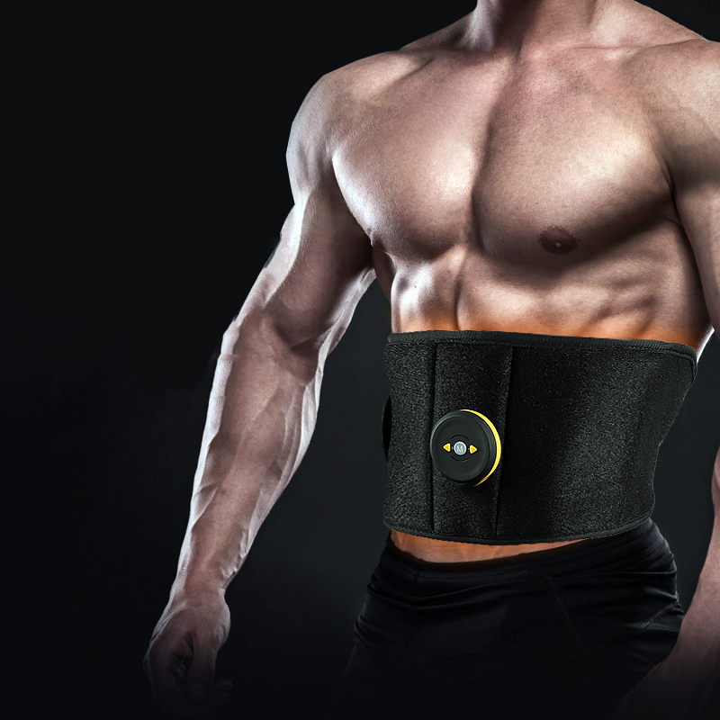 Vibration Sweat Belt Abdominal Muscle Toner EMS Electronic Stimulator Fitness Massager Waist Trimmer Support Slimming Body Home