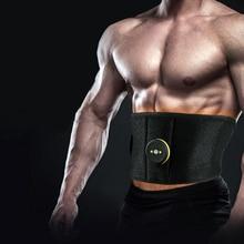 Vibration Sweat Belt Abdominal Muscle Toner EMS Electronic Stimulator Fitness Massager Waist Trimmer Support Slimming Body Home