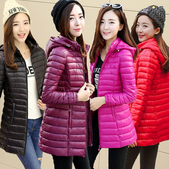 Wholesale and Retail 2017 Autumn Long section of Large size Female Jacket Slim Thin Female Down Jacket Female Student Jacket calvin klein k2y2x1c3 calvin klein