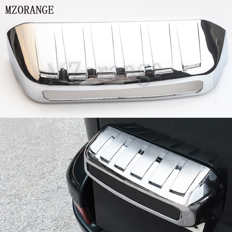 MZORANGE 2003-2008 License Frame Chrome Cover For <font><b>Toyota</b></font> <font><b>Land</b></font> <font><b>Cruiser</b></font> <font><b>Prado</b></font> <font><b>120</b></font> Accessories For <font><b>Toyota</b></font> <font><b>Land</b></font> <font><b>Cruiser</b></font> <font><b>Prado</b></font> Fj120 image