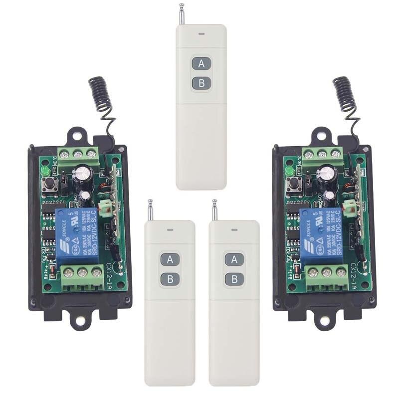 ФОТО 3000m DC 9V 12V 24V 1 CH 1CH RF Wireless Remote Control Switch System,315/433.92 3X 2CH Transmitter + 2X Receiver,M / T / L