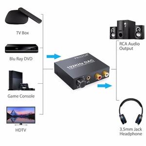 Image 2 - Цифровой аудиопреобразователь proзор DAC RCA 3,5 мм выход с регулировкой громкости L/R декодер Toslink в аналоговый для домашнего кинотеатра DVD