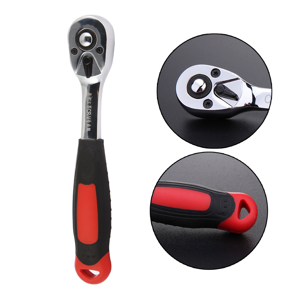 1pcs 3/8 Drive Quick Release Ratchet Socket Wrench Handle Lock 72 Tooth Gear Ratchet Wrench Spanner newest 1 2 inch drive quick release ratchet socket wrench repairing hand tool 3 size to choose best price