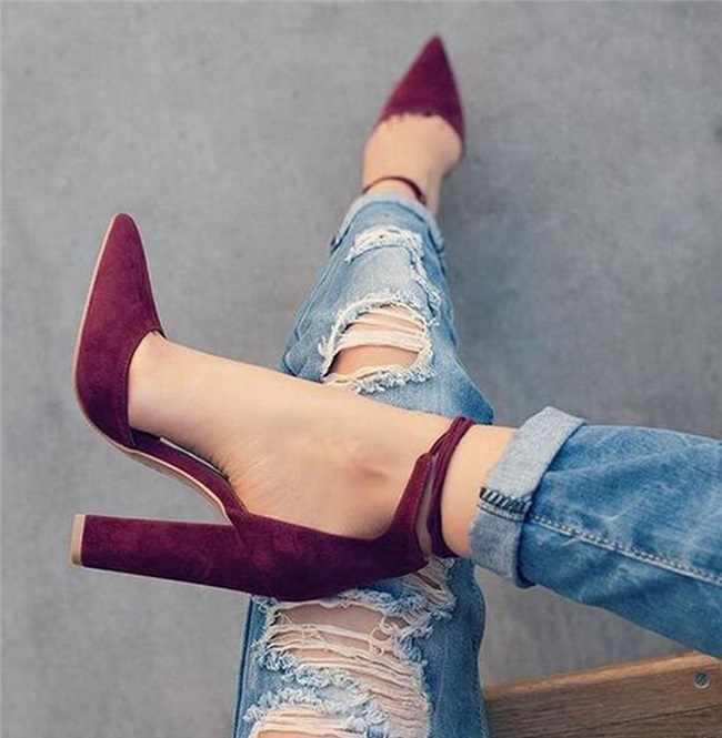 Kadın Pompaları Seksi Yüksek Topuklu Ayakkabı bayanlar Dantel Up Noktası Toe Parti Düğün Pompa Siyah Kadın ayakkabı 35-43 chaussures femme