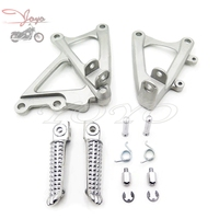 Front Rider Footrests Foot pegs Bracket Set For Yamaha YZF R1 09 10 11 12 13 14