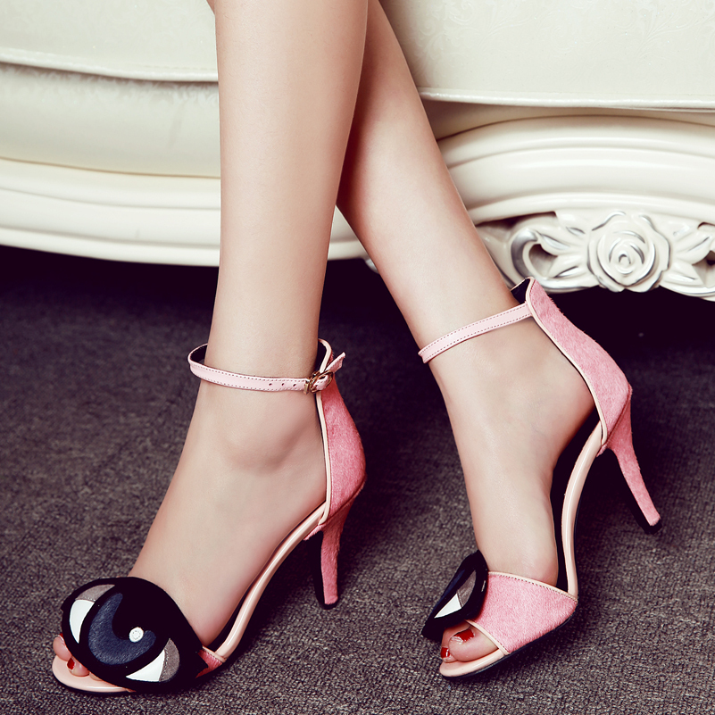 116bc8007411 New Novelty Pumps For Women Sandals on Platform Small size High Heel Shoes  Horsehair Big Eye Shoes Exclusive sale Online Store-in Women s Pumps from  Shoes ...
