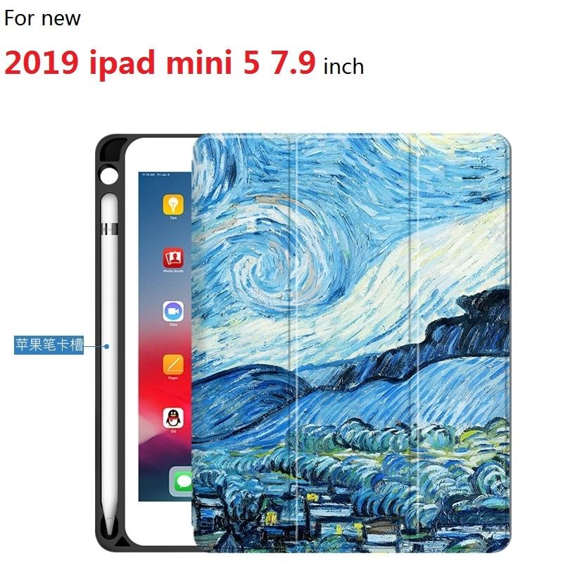 """Van Gogh Art แท็บเล็ตสำหรับ 2019 ipad mini 5 7.9 นิ้ว ultra   บางออกแบบสำหรับ ipad mini 5 7.9 """"แท็บเล็ต-ใน เคสแท็บเล็ตและ e-Books จาก คอมพิวเตอร์และออฟฟิศ บน AliExpress - 11.11_สิบเอ็ด สิบเอ็ดวันคนโสด 1"""