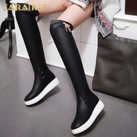 SARAIRIS Brand New Large Size 34-43 Platform Knee High   Boots   Woman Shoes Hot Sale Add Fur Warm Winter   Boots   Female Shoes Woman