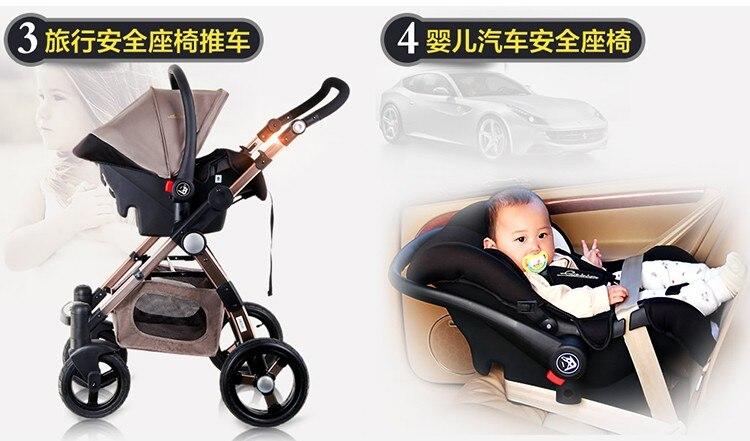 Detalles acerca de De Lujo 3 In1 Plegable Viaje Cochecito de Bebé Niños Recién Nacido Cochecito Buggy mostrar título original