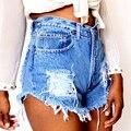 Shorts Fêmeas verão Women'sexy Rasgado Buraco Shorts Jeans Ladies'casual calças de Cintura Alta Short Jeans 22