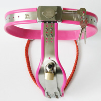 4 Color Female Chastity Belt Panties BDSM Bondage Metal Stainless Steel Silicone Chastity Lock Device Sex Toys For Woman Strapon